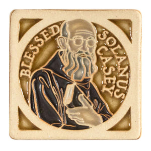 Ceramic Hand-Painted Solanus Casey Tile