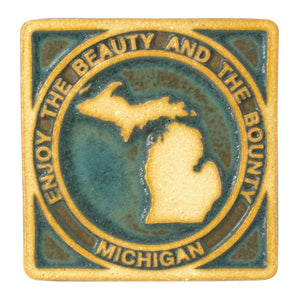 Ceramic Beauty and Bounty of Michigan Tile, Two-Tone