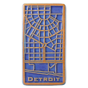 Ceramic Downtown Detroit Tile, Two-Tone