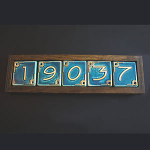 Ceramic 5 Digit Address Frame - Dark | Mutual Adoration