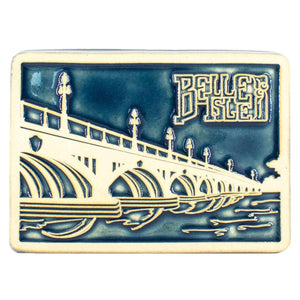 Ceramic Belle Isle Bridge Tile, Two-Tone