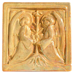 Ceramic 6x6 Iridescent Two Angels