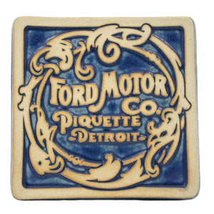 Ceramic Ford Piquette Tile, Two-Tone