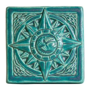 Ceramic Compass Tile