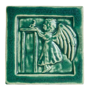 Ceramic Little Angel Girl Tile