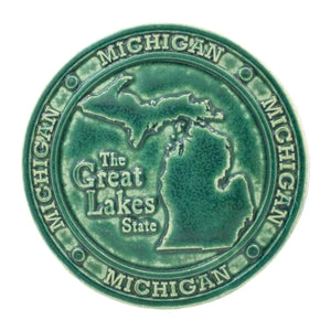 Ceramic Michigan Trivet Tile