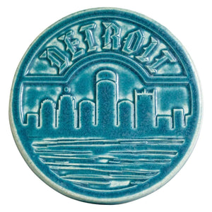 Ceramic Detroit Trivet Tile