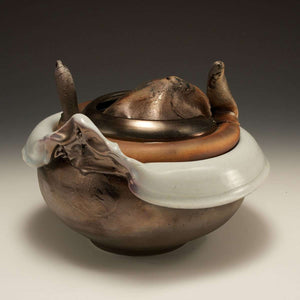 Ceramic Bronze Luster Trojan Soup Tureen, 1976