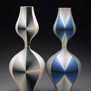 Ceramic Grey Contrasting Gradient Vessels