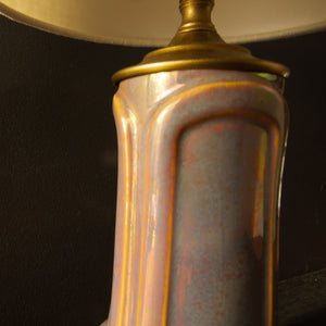 Ceramic Blush Iridescent Lamp