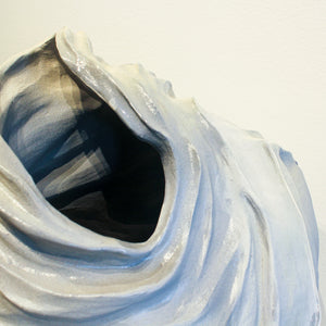 Ceramic Kirsten Helmer | Small Blue Line Weight Object