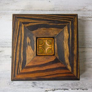 Ceramic Mutual Adoration | Framed 2x2 Geo Tile
