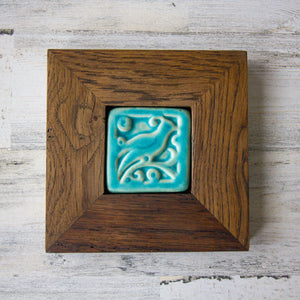 Ceramic Mutual Adoration | Framed 3x3 Geo Tile