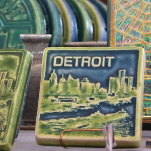 Ceramic Detroit Skyline, Two-Tone