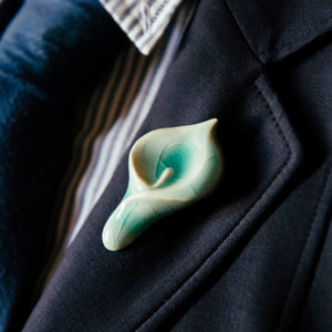 Ceramic Calla Lily Pin