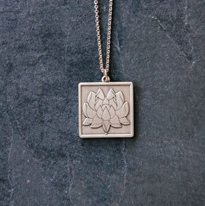 Ceramic Lotus Pendant