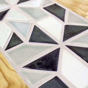Ceramic Pinwheel Mosaic Tile-Top Table
