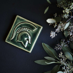 Ceramic Michigan State University Spartan Tile