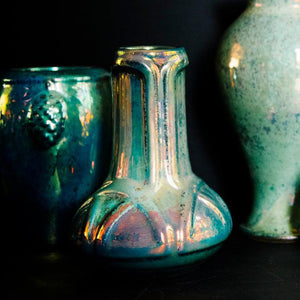 Ceramic Celtic Vase, Iridescent