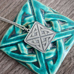 Ceramic Eternity Knot Pendant
