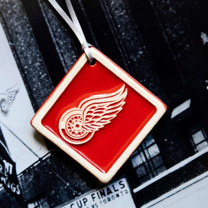 Ceramic Red Wings Ornament