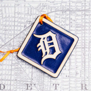 "Tigers Old English ""D"" Ornament"