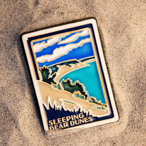 Ceramic Hand-Painted Sleeping Bear Dunes Postcard Tile