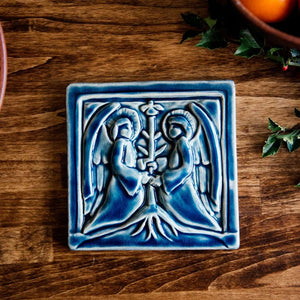 Ceramic Two Angels Tile
