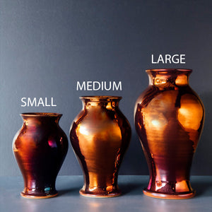 Ceramic Small Classic Vase | Copper Iridescent