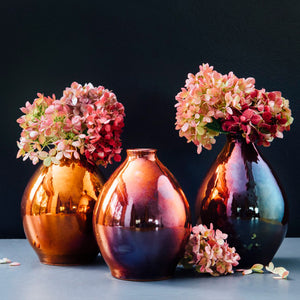 Ceramic Teardrop Vase | Iridescent
