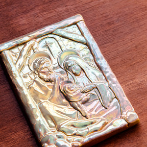 Ceramic Nativity Tile, Iridescent