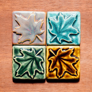 Ceramic 3x3 Maple Leaf Tile
