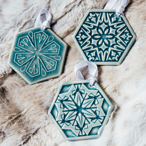 Ceramic 2020 Snowflake Set