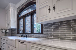 Ceramic Modern Herringbone Backsplash