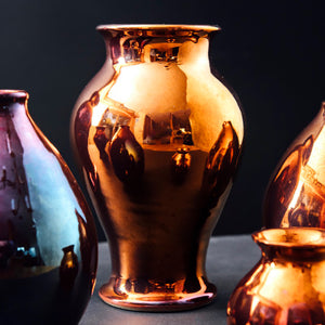 Ceramic Medium Classic Vase | Copper Iridescent