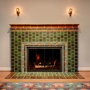 Ceramic Delsner Fireplace and Foyer