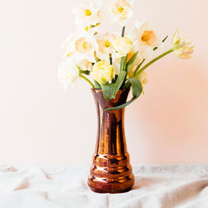 Ceramic Step Vase| Copper Iridescent
