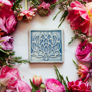 Ceramic Lotus Tile