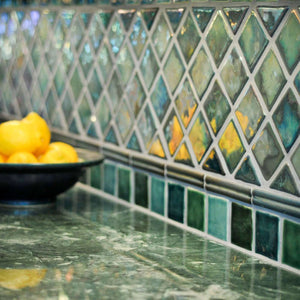 Ceramic Iridescent Backsplash