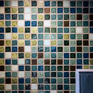 Ceramic Colorful Blend Shower Wall