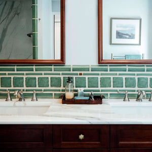 Ceramic Serene Green Bathroom