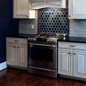 Ceramic Fishscale Backsplash