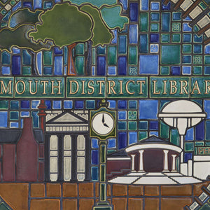 Ceramic Plymouth District Library Mural