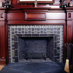 Ceramic Gunmetal Fireplace