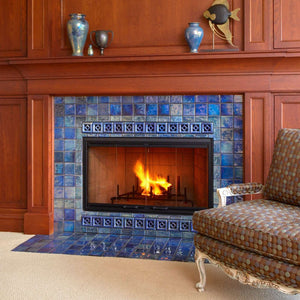Ceramic Lake View Fireplace