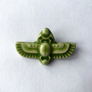 Ceramic Scarab Pin