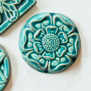 Ceramic Tudor Rose Tile