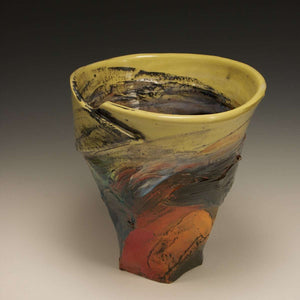 Ceramic Yellow Sky Bowl, 1990