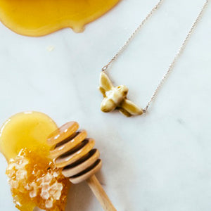 Ceramic Bee Necklace