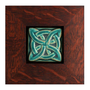 Ceramic Framed Lover's Knot Tile